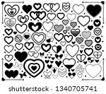 simple minimalist doodle heart...   Shutterstock .eps vector #1340705741