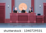 law process with judge lawyer... | Shutterstock .eps vector #1340729531