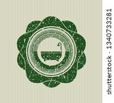 green bathtub icon inside...   Shutterstock .eps vector #1340733281