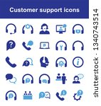 customer support icons | Shutterstock .eps vector #1340743514