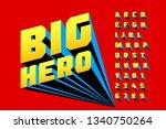 comics style font design ... | Shutterstock .eps vector #1340750264