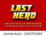 comics style font design ... | Shutterstock .eps vector #1340754284