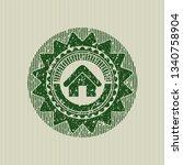 green home icon inside distress ...   Shutterstock .eps vector #1340758904