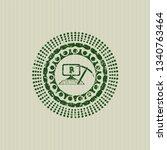 green bitcoin mining icon...   Shutterstock .eps vector #1340763464