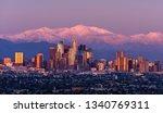 downtown los angeles skyline...   Shutterstock . vector #1340769311