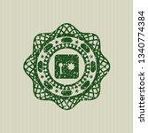 green safe  safety deposit box...   Shutterstock .eps vector #1340774384