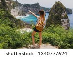 back view of traveling  woman...   Shutterstock . vector #1340777624
