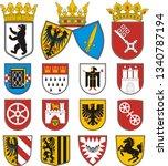 coats of arms of cities in...   Shutterstock .eps vector #1340787194