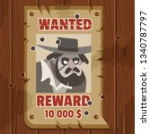 wanted for reward poster....   Shutterstock .eps vector #1340787797