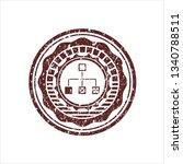 red flowchart icon inside...   Shutterstock .eps vector #1340788511