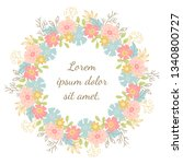 a wreath of decorative flowers. ... | Shutterstock .eps vector #1340800727
