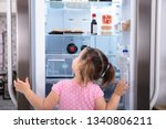rear view of girl standing in... | Shutterstock . vector #1340806211