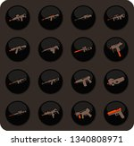 hand weapons color vector icons ... | Shutterstock .eps vector #1340808971