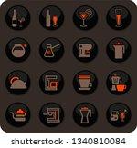 utensils for the preparation of ... | Shutterstock .eps vector #1340810084