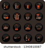 utensils for the preparation of ... | Shutterstock .eps vector #1340810087