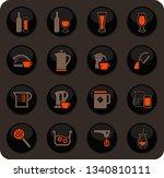 utensils for the preparation of ... | Shutterstock .eps vector #1340810111