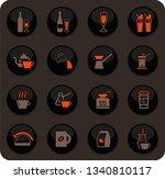 utensils for the preparation of ... | Shutterstock .eps vector #1340810117