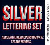 silver font with red shadows  ... | Shutterstock .eps vector #1340817314