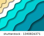 paper cut banners with 3d... | Shutterstock . vector #1340826371