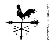 weather vane simple vector icon....