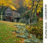 Glade Creek Grist Mill In Late...
