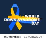 world down syndrome day. | Shutterstock .eps vector #1340863304