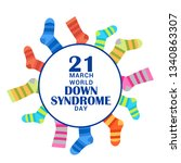 world down syndrome day. | Shutterstock .eps vector #1340863307