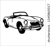classic car vector | Shutterstock .eps vector #1340865017