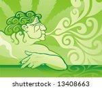 man smoking in coffee shop