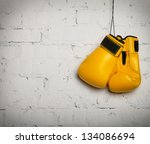 Pair Of Yellow Boxing Gloves...