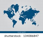 world map | Shutterstock .eps vector #134086847