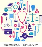 medical themed icons - stock vector