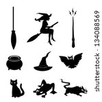 magical objects icons   vector | Shutterstock .eps vector #134088569