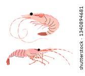 seafood illustration in cartoon ... | Shutterstock .eps vector #1340894681