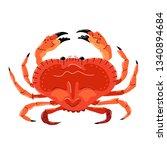 seafood illustration in cartoon ... | Shutterstock .eps vector #1340894684
