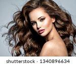beautiful caucasian woman with... | Shutterstock . vector #1340896634