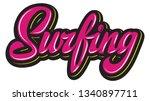 vector color calligraphic... | Shutterstock .eps vector #1340897711
