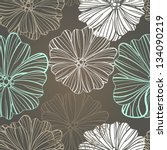 floral background seamless... | Shutterstock .eps vector #134090219
