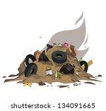 dump   Shutterstock .eps vector #134091665