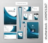 corporate identity template... | Shutterstock .eps vector #1340921267