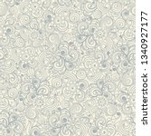 seamless hand drawn floral... | Shutterstock .eps vector #1340927177