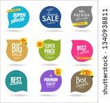 sale banner templates design... | Shutterstock .eps vector #1340938811