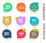 sale banner templates design... | Shutterstock .eps vector #1340938814