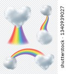 rainbows with clouds. realistic ... | Shutterstock .eps vector #1340939027
