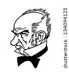grumpy old man   retro clip art ... | Shutterstock .eps vector #134094125