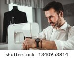 tailor working with sewing...   Shutterstock . vector #1340953814
