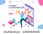 concept  buyer graphic ... | Shutterstock . vector #1340964434