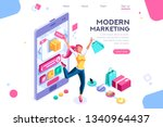 concept  buyer graphic ... | Shutterstock . vector #1340964437