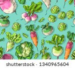 seamless pattern with root... | Shutterstock .eps vector #1340965604