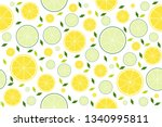 colorful summer seamless... | Shutterstock .eps vector #1340995811
